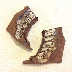 Jessica Simpson Fringe Wedge Sandals
